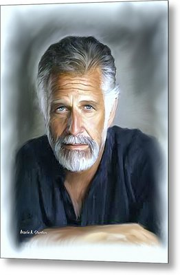 One Of The World's Most Interesting Man - In Oil Metal Print by Angela A Stanton