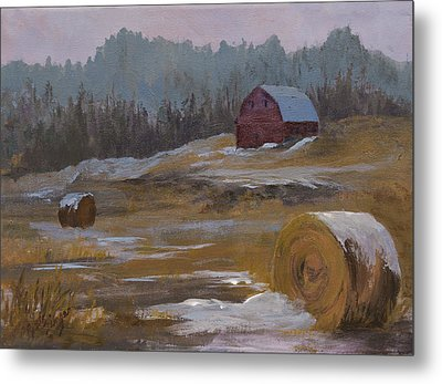One Wintry Day Metal Print by Bev Finger