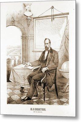 O.p. Morton, Gov. Of Indiana Ehrgott, Forbriger & Co Metal Print