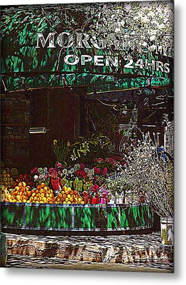 Open 24 Hours Metal Print by Miriam Danar