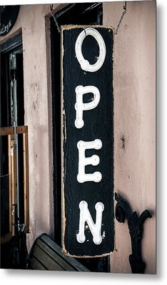 Metal Print featuring the photograph Open For Business by Sennie Pierson
