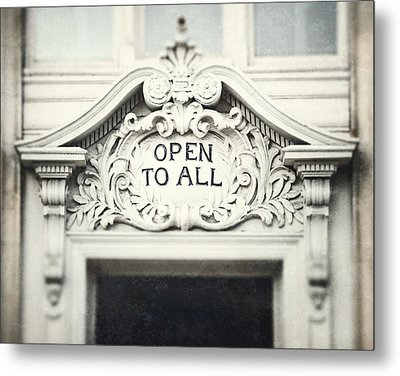 Open To All Metal Print by Lisa Russo