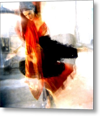 Orange Dancer 1 Metal Print