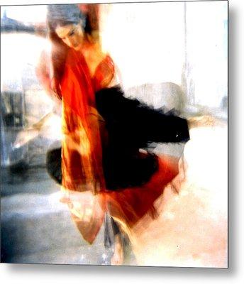 Orange Dancer 1 Metal Print by Ann Tracy