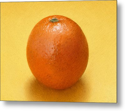 Metal Print featuring the digital art Orange by David Blank