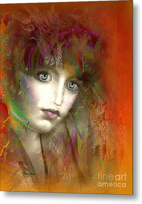 Orange Glow Metal Print by Doris Wood