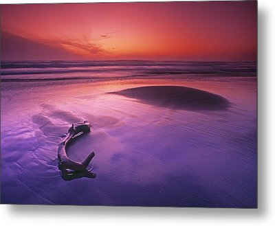 Orange & Purple Cast, Oregon Coast Metal Print by First Light