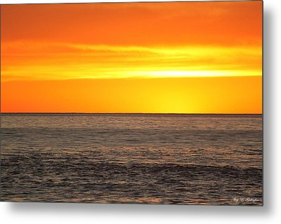 Orange Sherbet Metal Print by Amy Gallagher