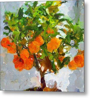 Orange Tree Metal Print by Yury Malkov