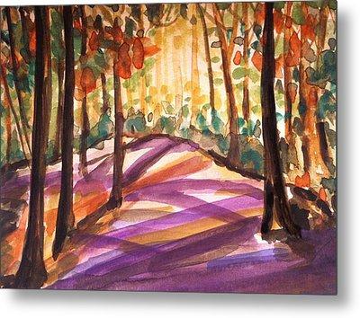 Orange Woods Metal Print by Hae Kim