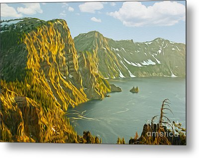 Oregon Lake Time Metal Print by Nur Roy