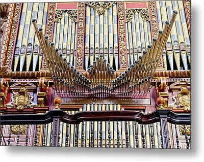 Organ In Cordoba Cathedral Metal Print by Artur Bogacki