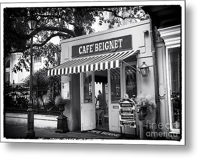 Orleans Cafe Beignet Metal Print by John Rizzuto