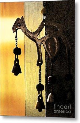 Ornament In Golden Light Metal Print by Ellen Cotton