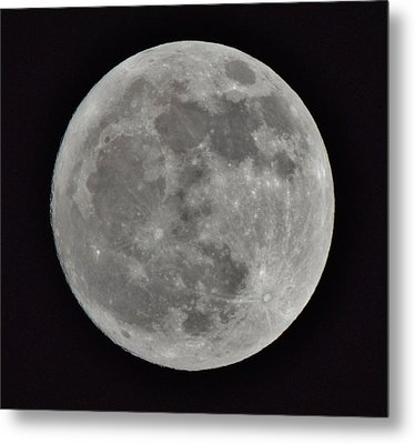 Our Moon Metal Print by Thomas  MacPherson Jr