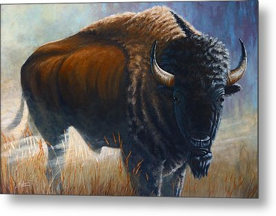 Out Of The Mist Metal Print by Clay Hibbard