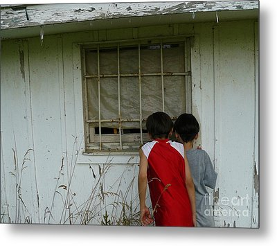 Metal Print featuring the photograph Outside Looking In by Jane Ford
