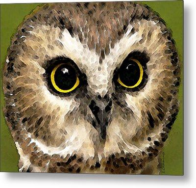 Owl Art - Night Vision Metal Print