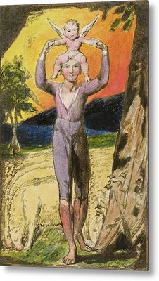 P.124-1950.pt29 Frontispiece To Songs Metal Print by William Blake