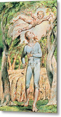 P.124-1950.ptl Frontispiece To Songs Metal Print by William Blake