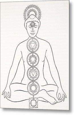 Padmasana Or Lotus Position Metal Print
