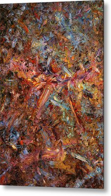 Paint Number 43 Metal Print by James W Johnson
