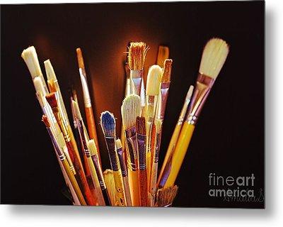 Paintbrushes Metal Print