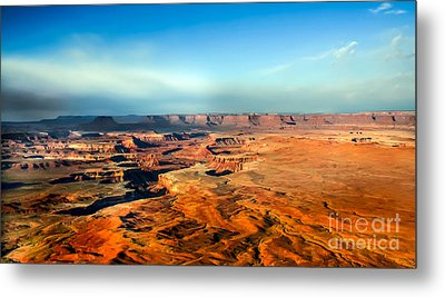 Painted Canyonland Metal Print by Robert Bales