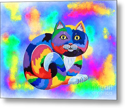 Painted Cat Metal Print by Nick Gustafson