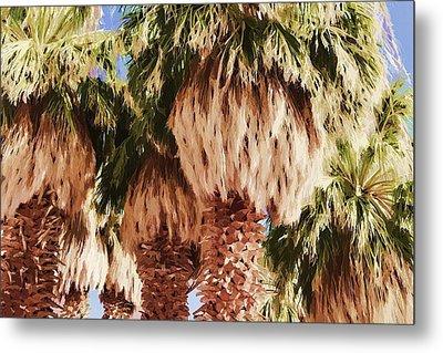 Metal Print featuring the painting Palm by Muhie Kanawati