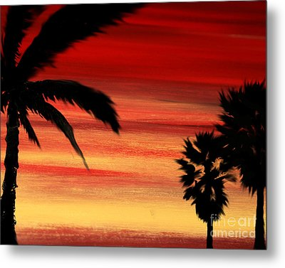Palm Set Metal Print by Ryan Burton
