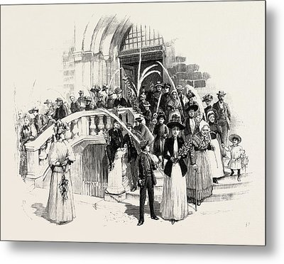 Palm Sunday At Grasse France Metal Print by French School
