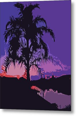 Palm Sunset Metal Print by Aimee L Maher Photography and Art Visit ALMGallerydotcom