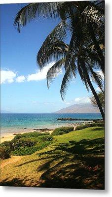 Palm Trees On A Maui Beach Metal Print