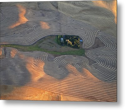 Palouse Contours IIi Metal Print by Latah Trail Foundation