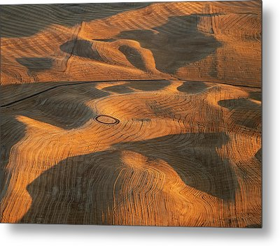 Palouse Contours V Metal Print by Latah Trail Foundation