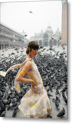 Pamela Barkentin In The Piazza San Marco Metal Print