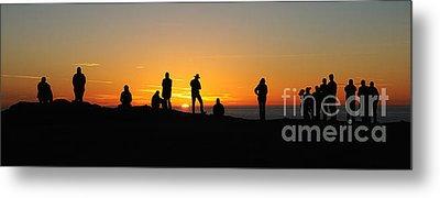 Panorama Everyone Likes A Sunset Metal Print by Vivian Christopher