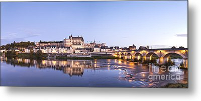 Panorama Of Amboise Loire Valley France Metal Print by Colin and Linda McKie