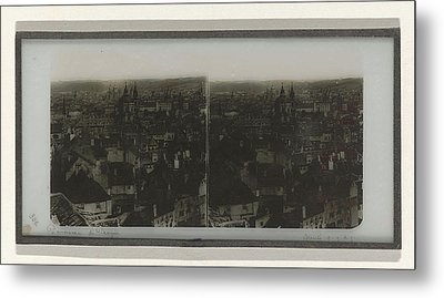 Panorama Of Prague, May Possibly Ferrier Pere Et Fils Metal Print by Artokoloro