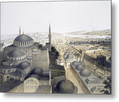 Panoramic View Of Constantinople Metal Print by Gaspard Fossati