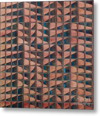 Paper Relief Metal Print by Jan Willem Van Swigchem
