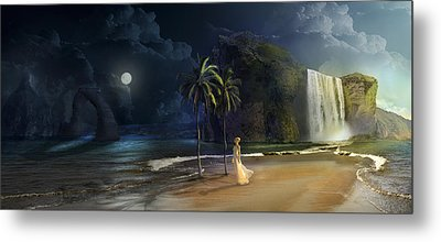 Paradise Metal Print by Virginia Palomeque