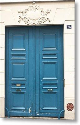 Paris Door Metal Print by Georgia Fowler
