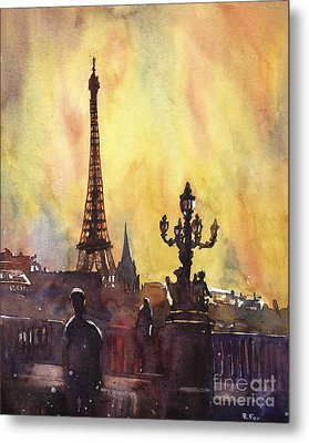 Parisian Sunset Metal Print by Ryan Fox