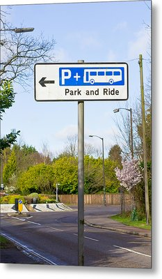 Park And Ride Metal Print by Tom Gowanlock