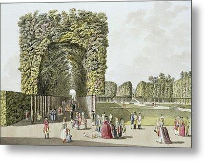 Part Of The Garden At Ausgarten Metal Print by Johann Ziegler
