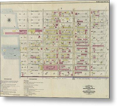 Part Of Ward 8. Land Map Section, No. 3, Volume 1 Metal Print
