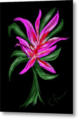 Metal Print featuring the digital art Passion Flower by Christine Fournier