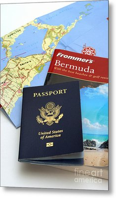 Passport Frommers Travel Guide And Map Metal Print